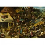 Puzzle  Dtoys-73778-BR01-(73778) Brueghel Pieter - Flemish Proverb