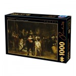Puzzle  Dtoys-73792-RE01 Rembrandt - Night Watch