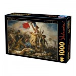 Puzzle  Dtoys-73808-DE01-(73808) Eugène Delacroix: Liberty Leading the People