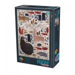 Puzzle  Dtoys-74348-AN02 Andrea Kürti - Wild Animals