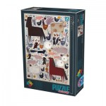 Puzzle  Dtoys-74348 Andrea Kürti - Farm Animals
