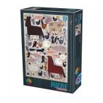 Puzzle  Dtoys-74348-KA01-(74348) Andrea Kürti - Farm Animals