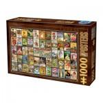Puzzle  Dtoys-74362-VC01-(74362) Vintage Collage - Teas
