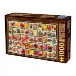 Puzzle  Dtoys-74362-VC03 Vintage Collage - Flowers