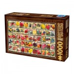 Puzzle  Dtoys-74492 Vintage Collage - Flowers