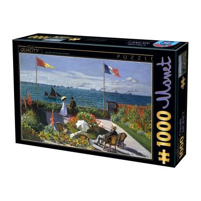 Puzzle Dtoys-74577 Claude Monet - Terrasse à Sainte-Adresse, 1867