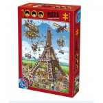 Puzzle  Dtoys-74683 Cartoon Collection - Eiffel Tower