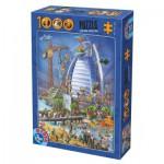 Puzzle  Dtoys-74690 Cartoon Collection - Burj Al Arab