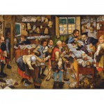 Puzzle  Dtoys-74942 Brueghel Pieter the Younger: The Payment of the Tithes, 1617-1622