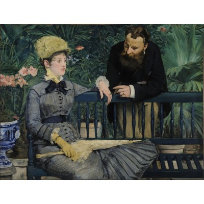 Puzzle Dtoys-75239 Manet Édouard: In the Conservatory, 1879