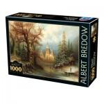 Puzzle  Dtoys-75697 Albert Bredow - Romantic Winter Landscape