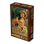 Puzzle  Dtoys-76892 Vintage Posters - Chocolat Carpentier