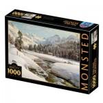 Puzzle  Dtoys-77660 Peder Mørk Mønsted - Winter Landscape in Switzerland near Engadin