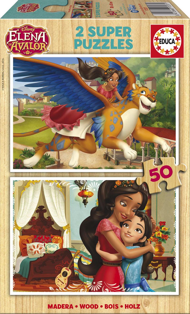2 wooden jigsaw puzzles elena d u0027avalor educa 17237 50 pieces