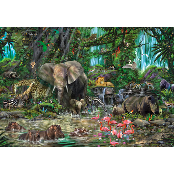 Puzzle African jungle Educa 16013 2000 pieces Jigsaw