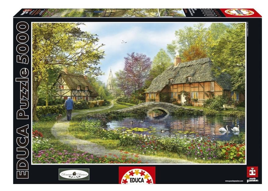 puzzle dominic davison cottage educa 16356 5000 pieces. Black Bedroom Furniture Sets. Home Design Ideas