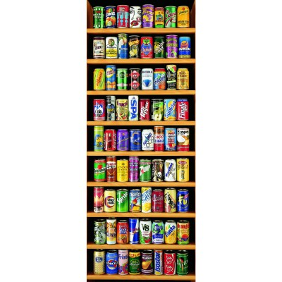 Educa-11053 Jigsaw Puzzle - 2000 Pieces - Vertical - Cans