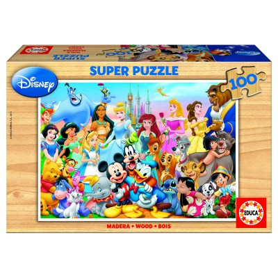 Educa-12002 Jigsaw Puzzle - 100 Pieces - Disney Family