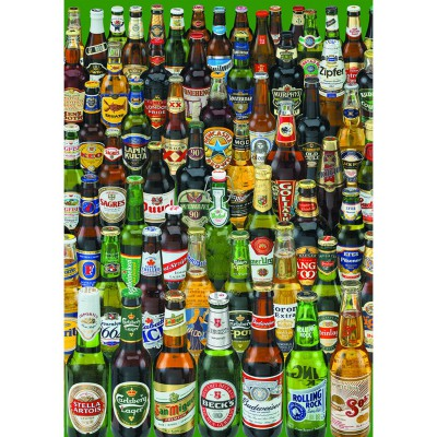 Educa-12736 Jigsaw Puzzle - 1000 Pieces - Cans of Beer