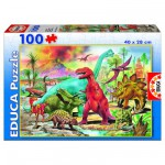 Educa-13179 Jigsaw Puzzle - 100 Pieces - Dinosaurs