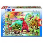 Educa-13179 Jigsaw Puzzle - 100 Pieces - Dinosaurs