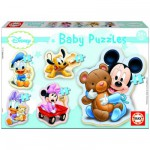 Educa-13813 Jigsaw Puzzles - 3 to 5 Pieces - 5 Baby Puzzles - Disney : Mickey