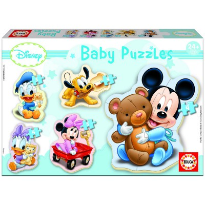 Educa-13813 Jigsaw Puzzles - 3 to 5 Pieces - 5 Baby Puzzles - Disney : Mickey