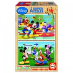 Educa-14181 Jigsaw Puzzles - 16 pieces each - 2 in 1 - Mickey and his Friends are having Fun