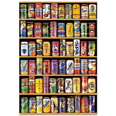 Educa-14446 Jigsaw Puzzle - 1500 Pieces - Cans of Beer