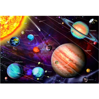 Educa-14461 Jigsaw Puzzle - 1000 Pieces - Glow in the Dark - Solar System