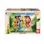 Educa-14659 Jigsaw Puzzle - 100 Pieces - Wooden - Disney : Fairies in the Marsh
