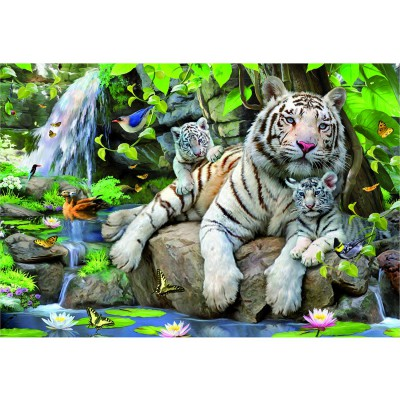 Educa-14808 Jigsaw Puzzle - 1000 Pieces - White Bengale Tigers