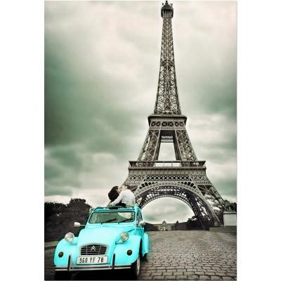Educa-14845 Jigsaw Puzzle - 500 Pieces - Kissing under the Eiffel Tower, Paris
