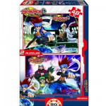 Educa-14882 Jigsaw Puzzles - 48 pieces each - 2 in 1 - Beyblade : Let it Rip !