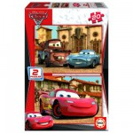 Educa-14938 Jigsaw Puzzles - 20 pieces each - 2 in 1 - Wooden - Disney Cars 2 : Flash McQueen, Martin, McMissile