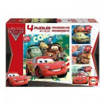 Educa-14942 4 Progressive Jigsaw Puzzles - 12 to 25 Pieces - Disney Cars 2