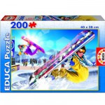 Educa-15268 Jigsaw Puzzle - 200 Pieces - Snowboard