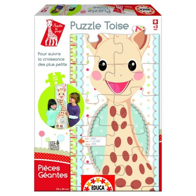 Educa-15505 Height Chart Jigsaw Puzzle - 32 Giant Pieces : Sophie the Giraffe