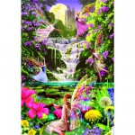 Educa-15515 Jigsaw Puzzle - 500 Pieces : Fairies' Waterfall