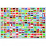 Educa-15530 Jigsaw Puzzle - 1500 Pieces : Flags of the World