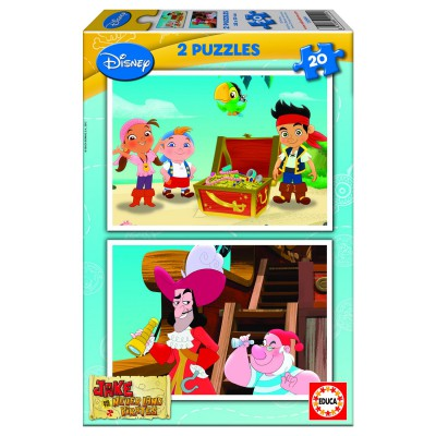 Educa-15599 2 puzzles - Jake and the pirates of the Imaginary Country