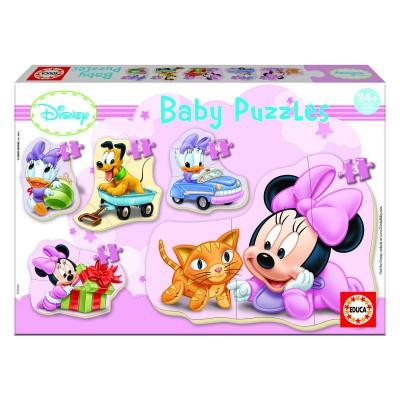 Educa-15612 Baby Puzzle - 5 Puzzles - Disney : Minnie