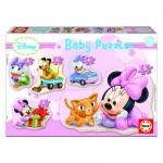 Educa-15612 Baby Puzzle - 5 Puzzles - Disney : Minnie