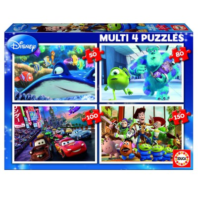 Educa-15615 Jigsaw Puzzle - From 50 to 150 Pieces - 4 Puzzles : Pixar