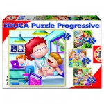 Educa-15618 Jigsaw Puzzle - From 12 to 25 Pieces - 4 Puzzles : Jobs