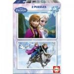Educa-15768 2 Jigsaw Puzzles - Frozen