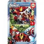 Educa-15932 2 Jigsaw Puzzles - Avengers