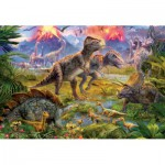 Puzzle  Educa-15969 Meeting of dinosaurs