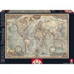 Puzzle  Educa-16005 The World, Political Map