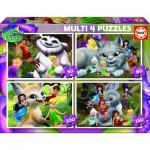 Educa-16350 4 Jigsaw Puzzles - Disney Fairies